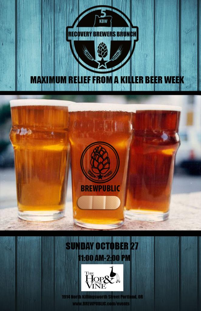 Brewpublic Killer Beer Week Recovery Brunch 2013