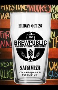 Brewpublic's 5th Brewniversary Celebration at Saraveza 10-25-13