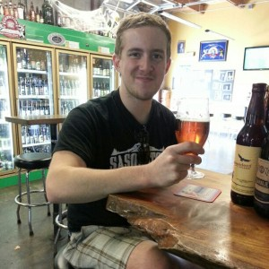 Charlie Van Meet of Sasquatch Brewing enjoys a glass of Barley Brown's Tumble Off Pale Ale
