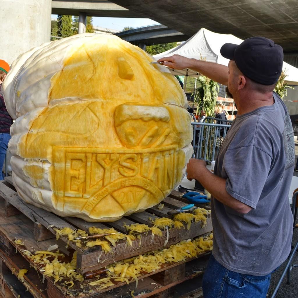 Real Pumpkin Carving at GPBF!