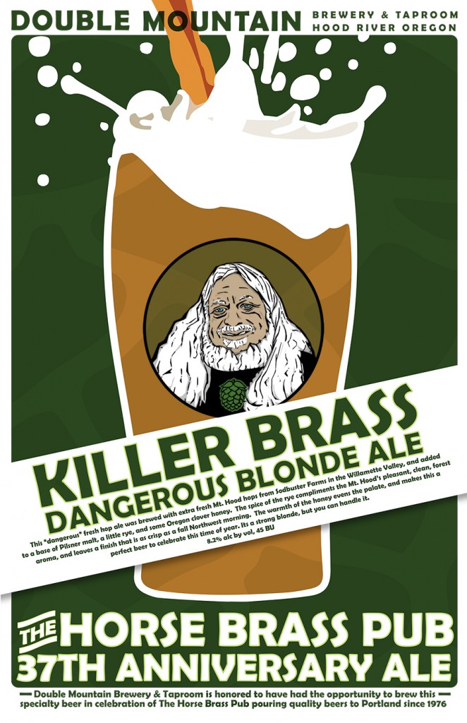 Double Mountain's Killer Brass-Dangerous Blonde Ale