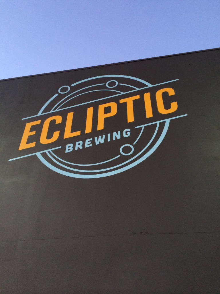 Ecliptic Brewing Sign on Building