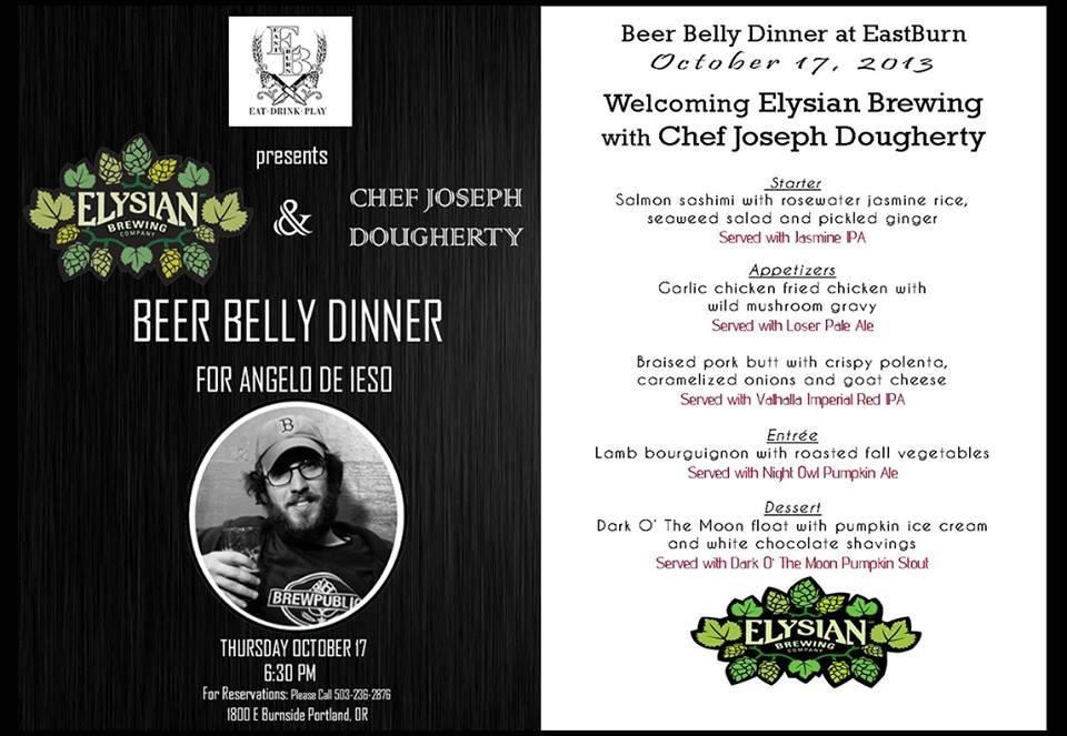 Elysian Beer Belly Dinner at The EastBurn
