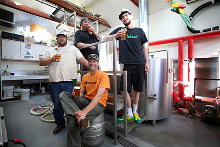 Jack Harris (Fort George), Vince Berg (Seaside Brewing Co.), Rich Amacher (Bill's Tavern) and John Dalgren (Astoria Brewing Co.)