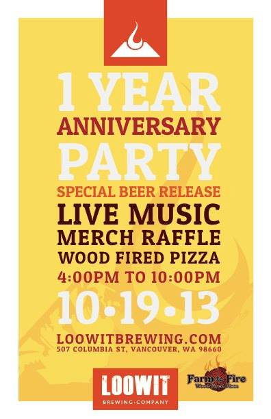 Loowit Brewing 1 Year Anniversary