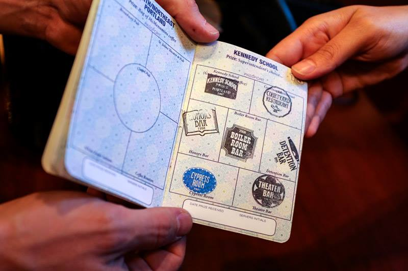 Stamps in McMenamins Passport