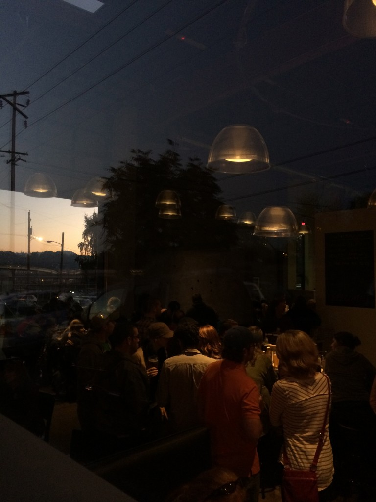 Sweeping Views of Fremont Bridge from Ecliptic Brewing