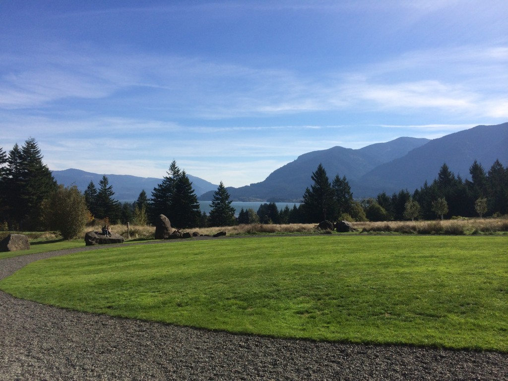View of Columbia River Gorge from Skamania Lodge