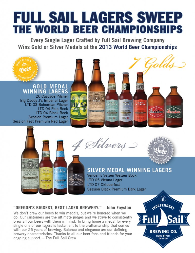 2013 FULL SAIL AWARD WINNING LAGERS