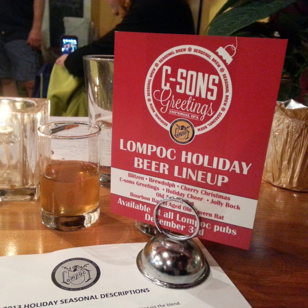 Lompoc Holiday Beer Lineup