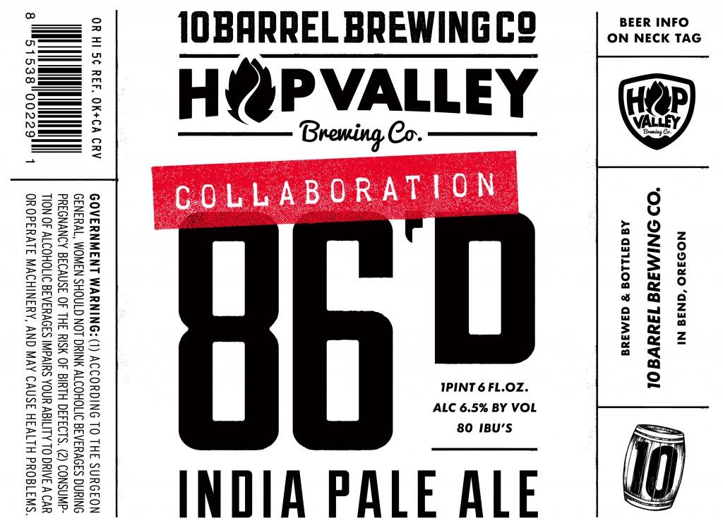 86D IPA label