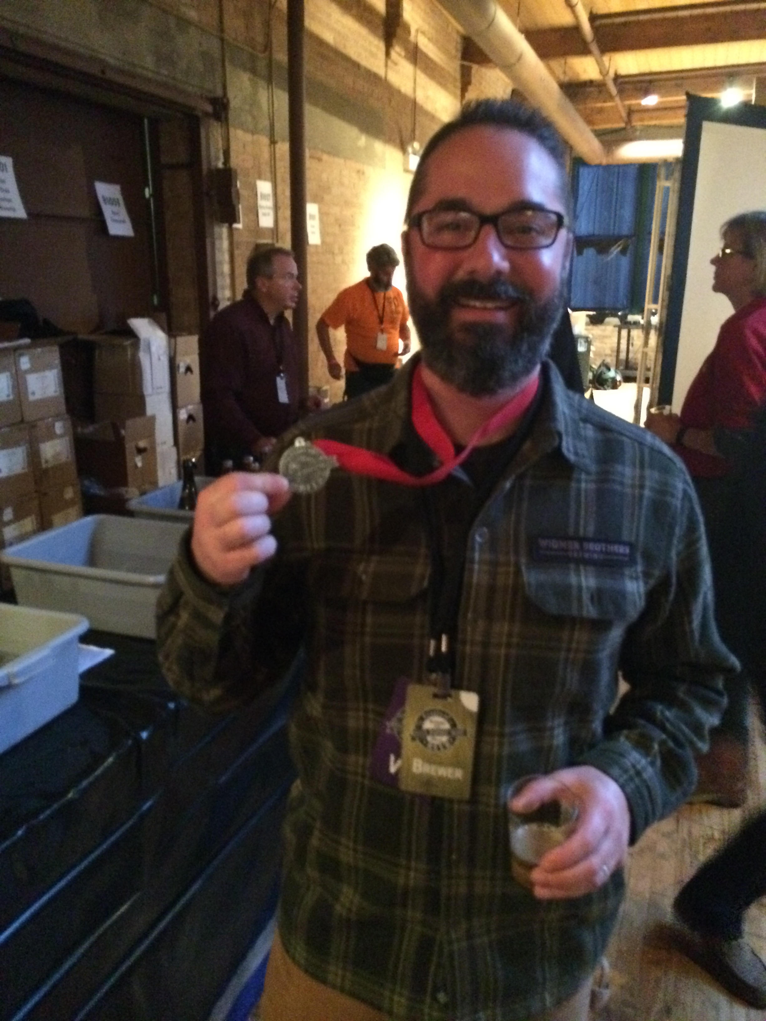 Ben Dobler wins a Silver Medal at the 2013 Festival of Wood and Barrel Aged Beers in Chicago, Illinois.