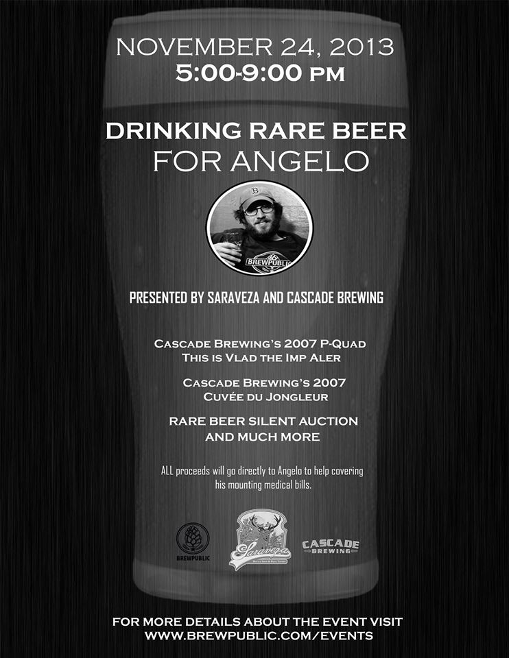 Drink Rare Beer For Angelo at Saraveza November 24, 2013