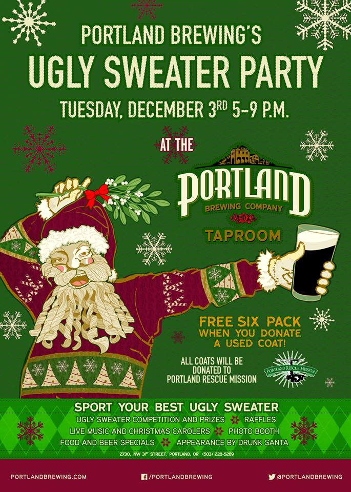 Portland Brewing's Ugly Sweater Party