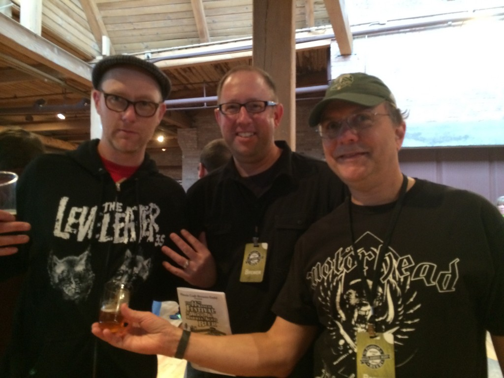 Gigantic Brewing's Van Havig, D.J. Paul and Belomont Station's Carl Singmaster
