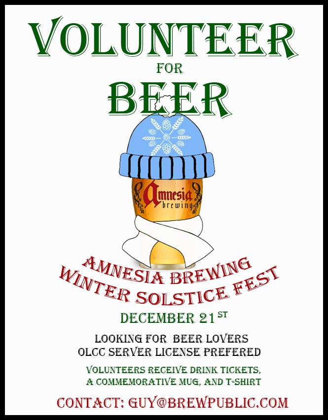 Volunteer for Amnesia Winter Solstice Fest