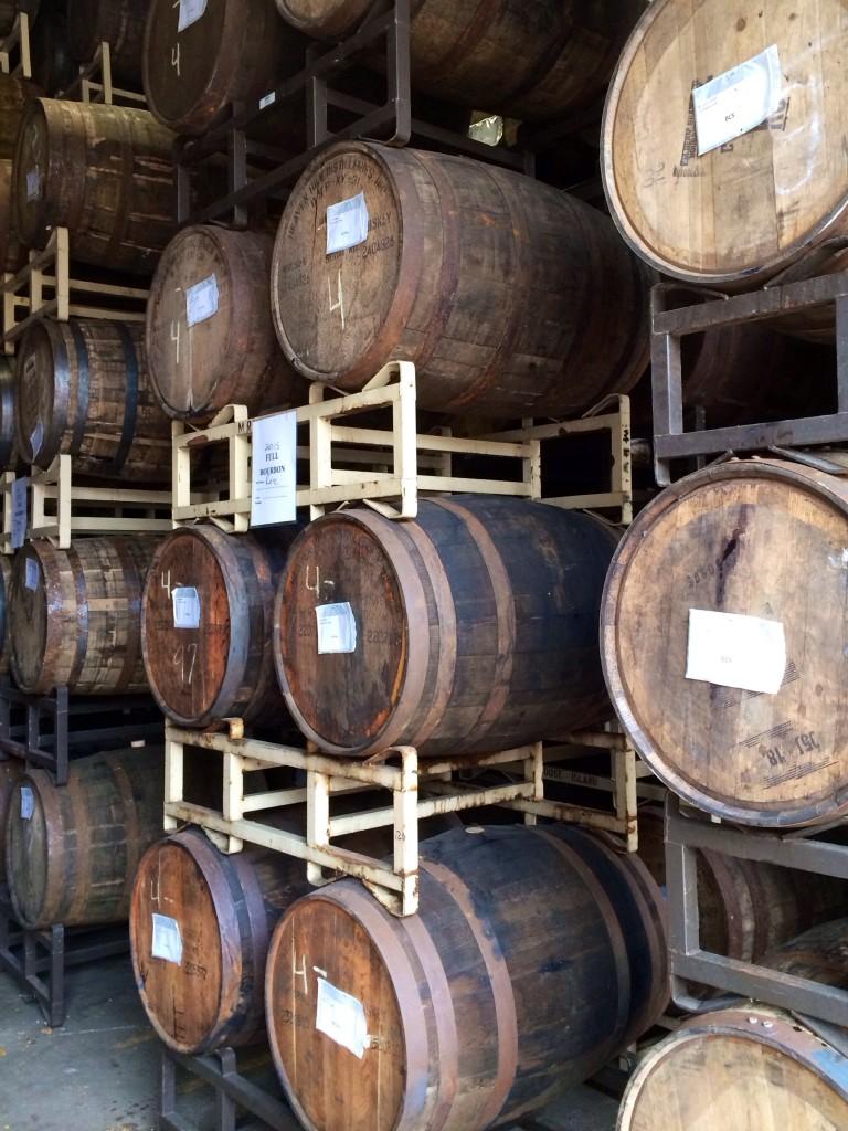 Barrels Inside Bourbon Barrel Room