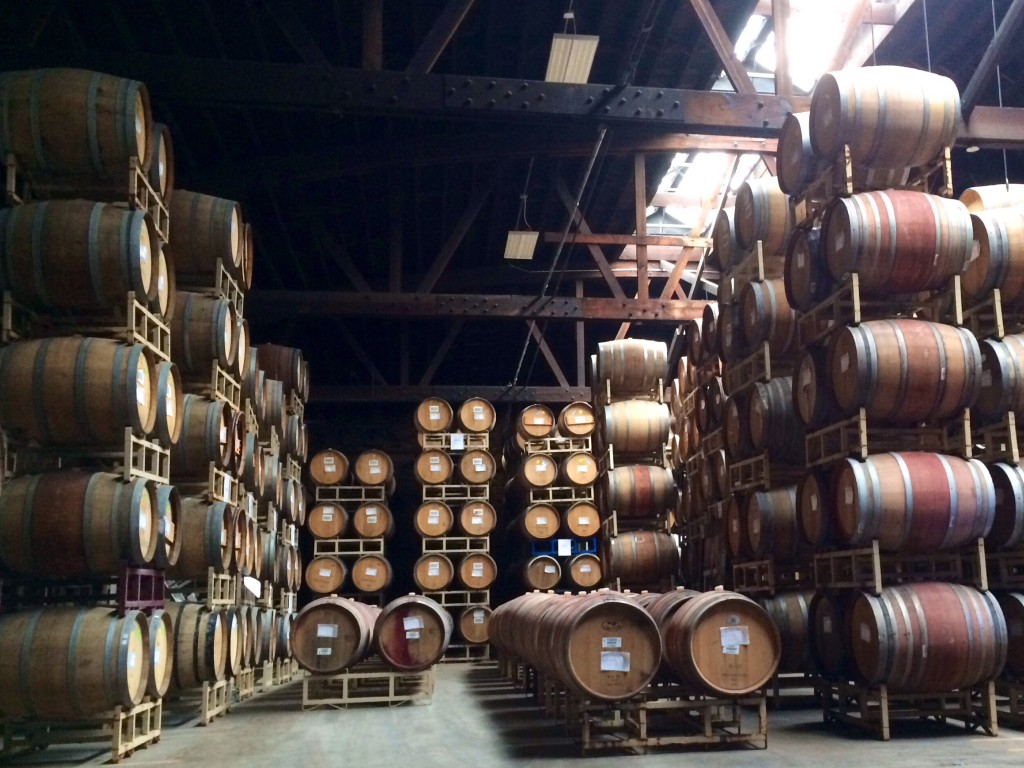 Barrels Inside Wine Barrel Room