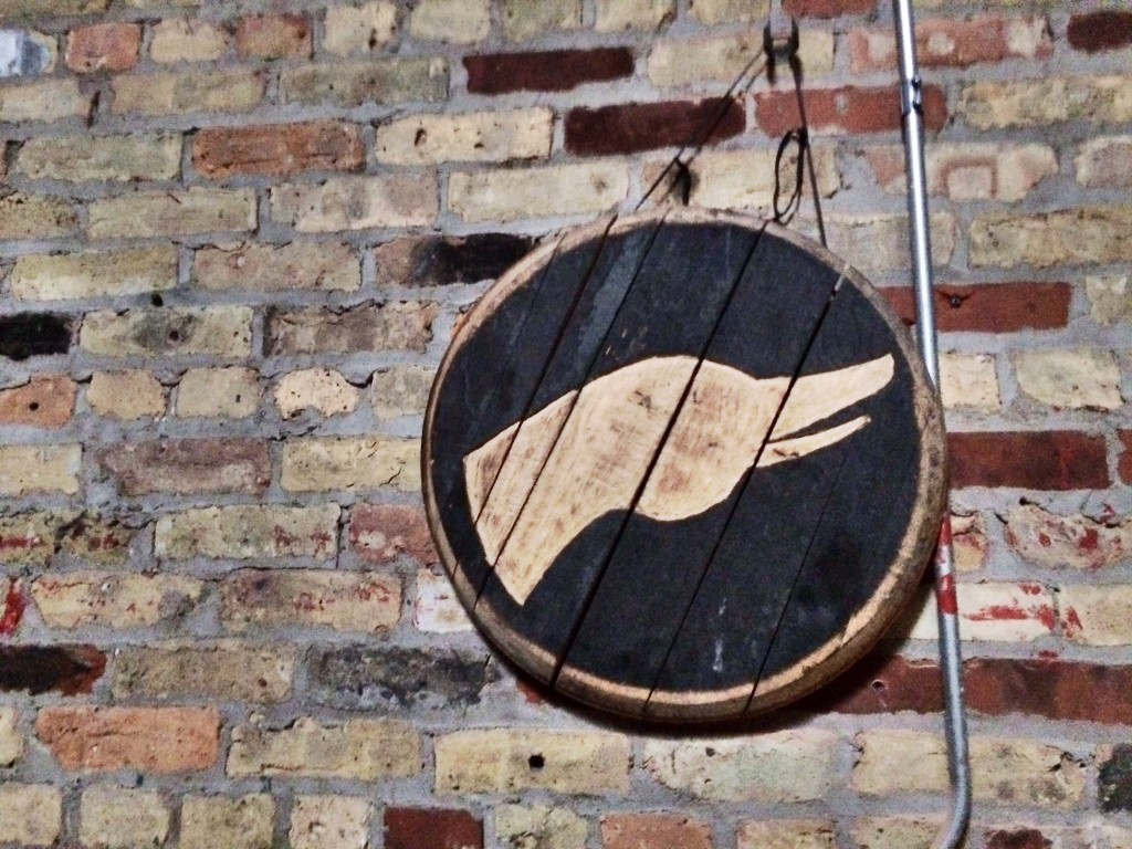 Goose Island Logo in Wine Barrel Room