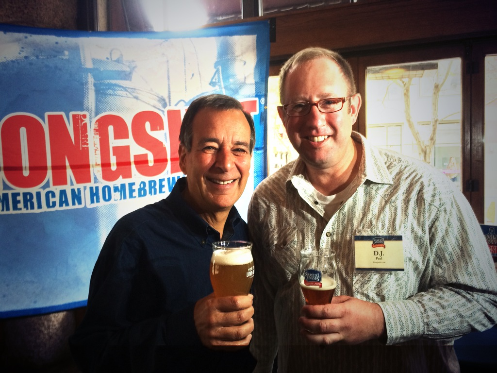 Jim Koch and D.J. Paul during 2013 GABF Samuel Adams event