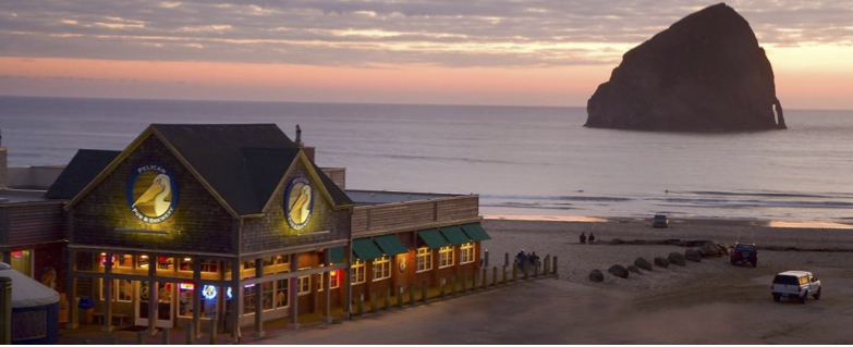 Image of Pelican Brewing in Pacific City, Oregon provided by the brewery.