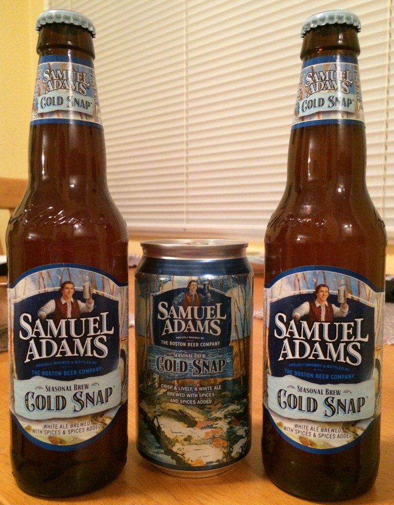 Sam Adams Cold Snap Bottle and Can