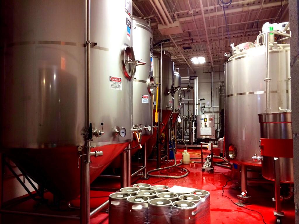 Tanks Inside Brewery