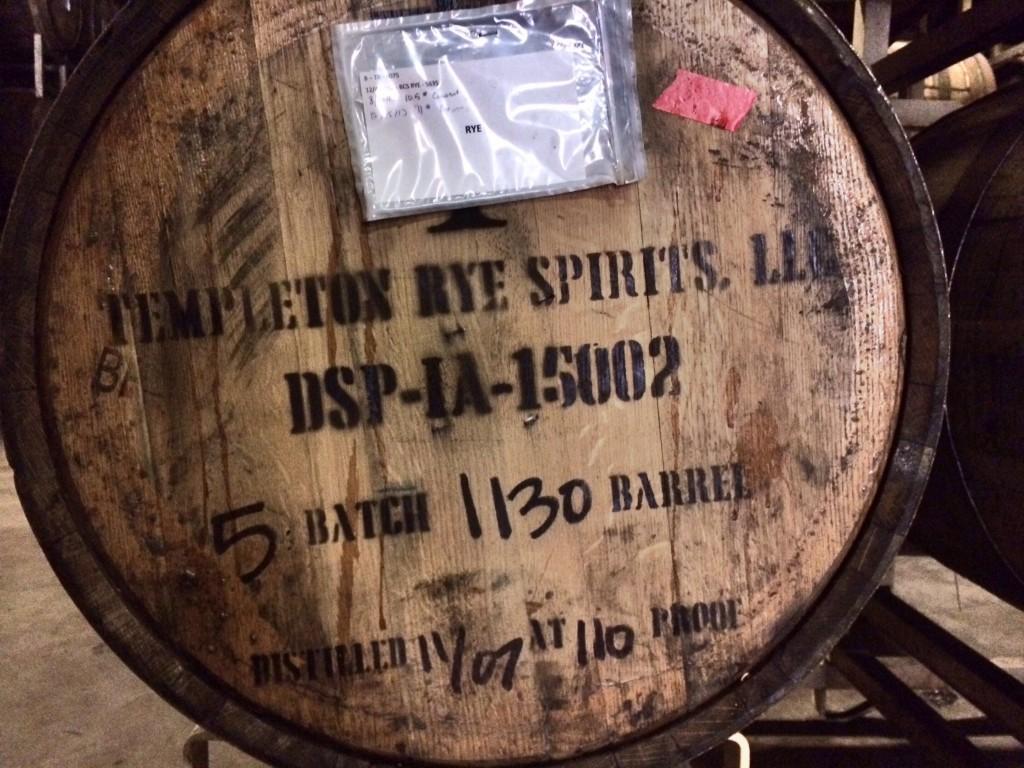 Templeton Rye Barrel