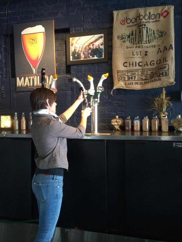 Tour Guide Patti Mandel Pouring a Sofie