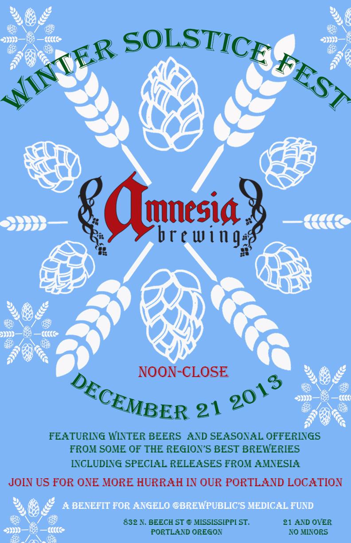 Amnesia Brewing S Winter Solstice Fest