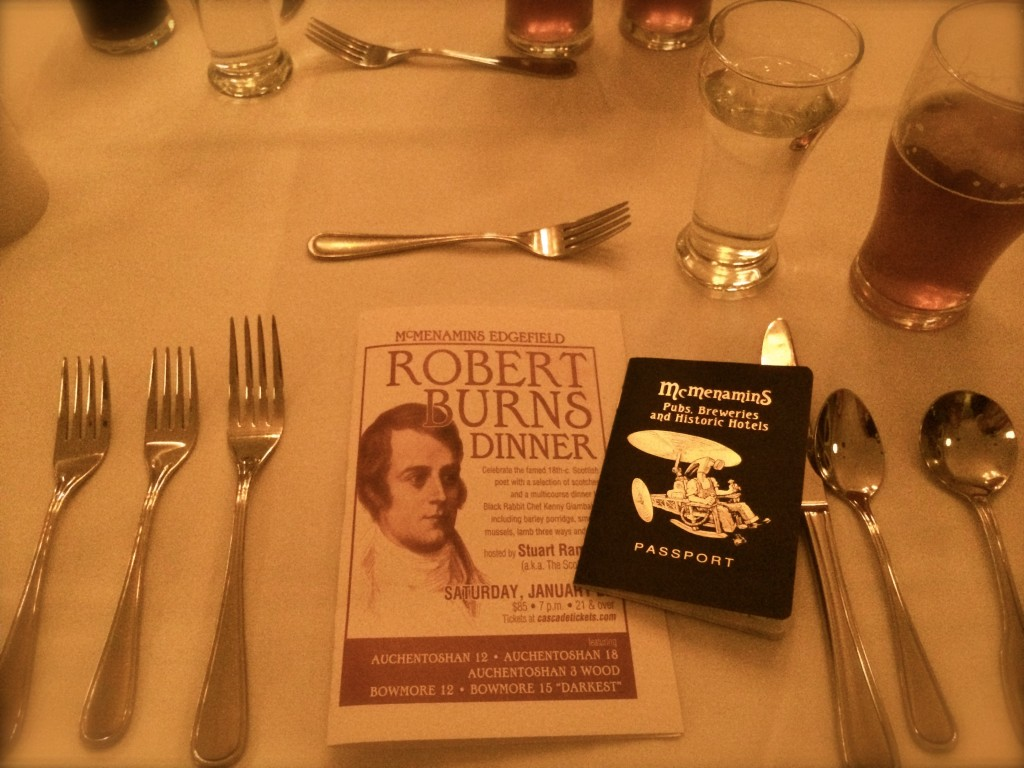 McMenamins Robert Burns Table Setting