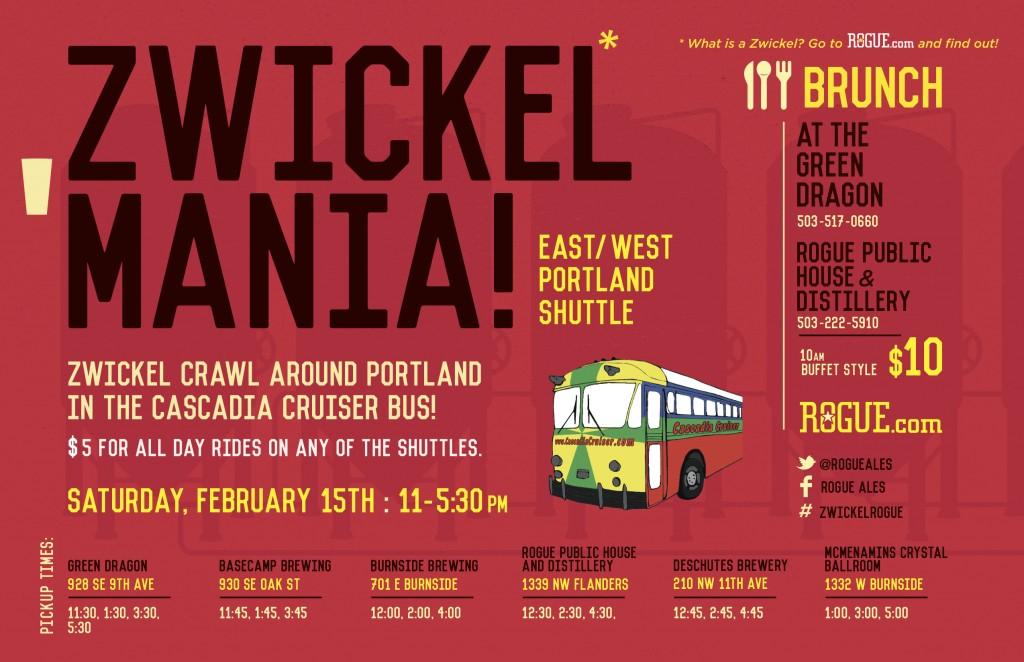 Rogue East West Portland Zwickelmania Bus Shuttle