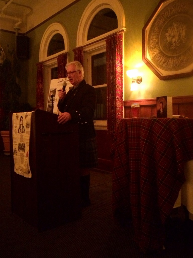 Stuart Ramsey Hosting McMenamins Robert Burns Dinner