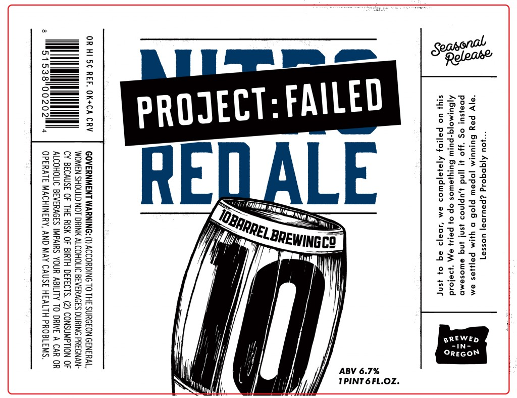Project Failed 22oz Label