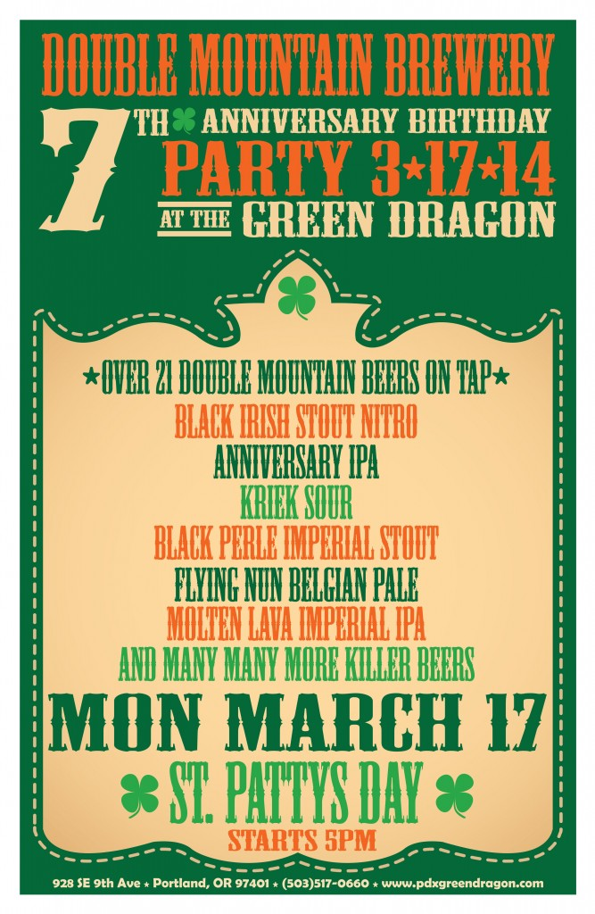 Green Dragon Double Mountian 7th Anniversary Party
