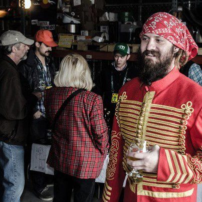 Captain of the Pirate Ship, Jason Yester, of Trinity Brewing
