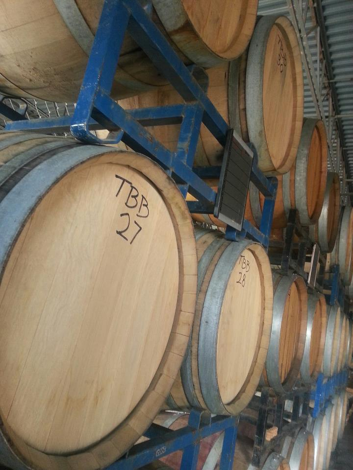 Trinity Brewing Barrel room