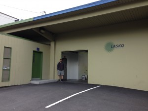 Owner/brewer Eric Surface stands before the future home of Mt Tabor Brewing's Portland brewery