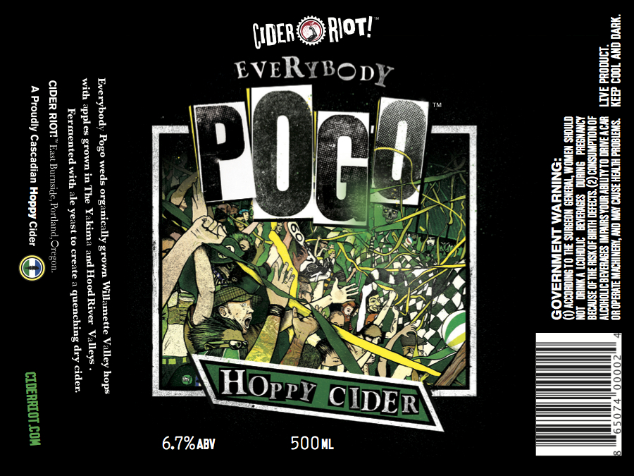 Cider Riot! Everybody Pogo Label