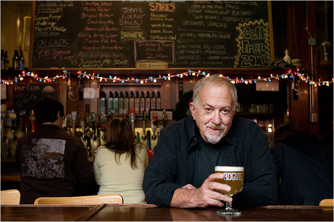 Jack Joyce co-founder of Rogue Ales (photo by Leah Nash, New York Times 2007)