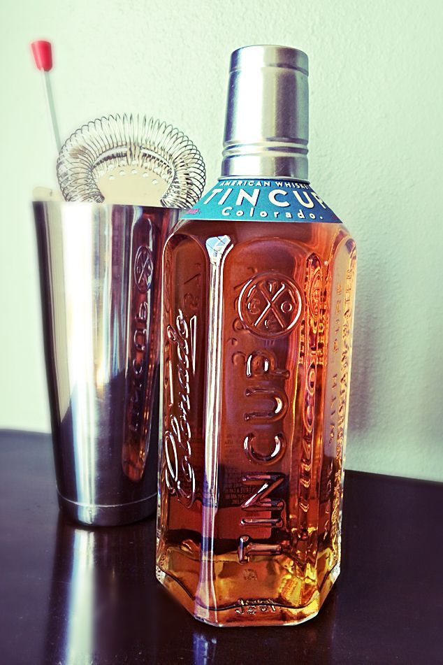 Tin Cup Whiskey Bottle (photo by Cat Stelzer)