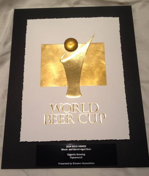 World Beer Cup Gold Medal - Pipewrench by Gigantic Brewing