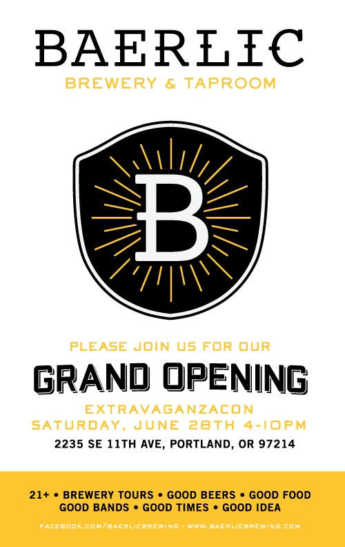 Baerlic Brewing Grand Opening Poster
