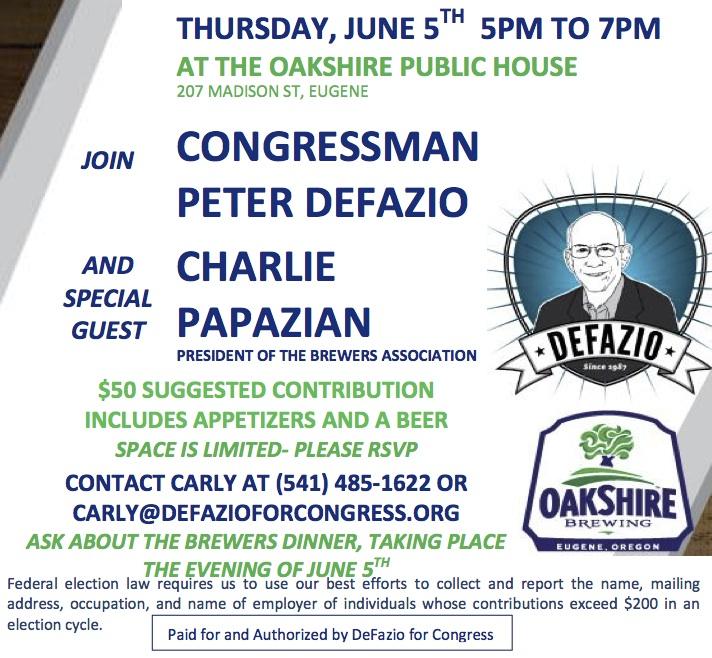 DeFazio Oakshire Event