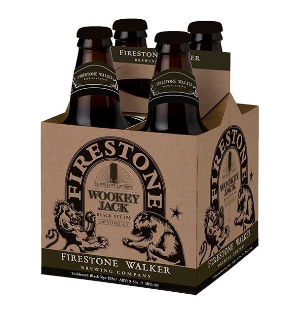Firestone Walker Wookey Jack Black Rye IPA 12 ounce