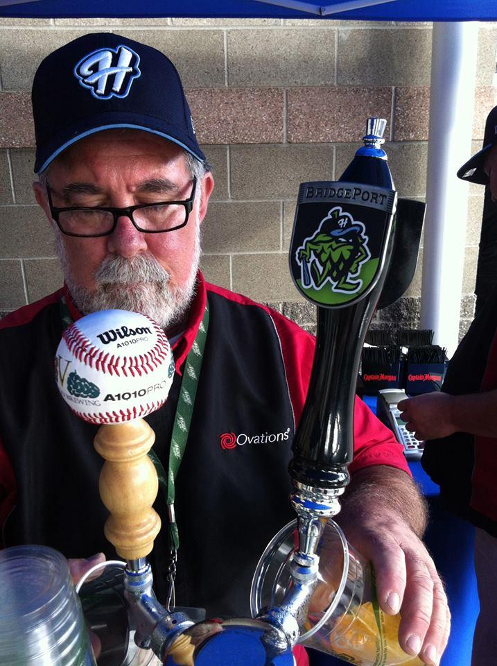 Hillsboro Hops Pouring BridgePort Long Ball Ale