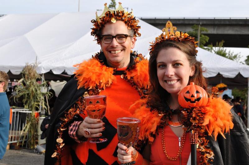 Festival Revelers at Elysian Great Pumpking Beer Fest