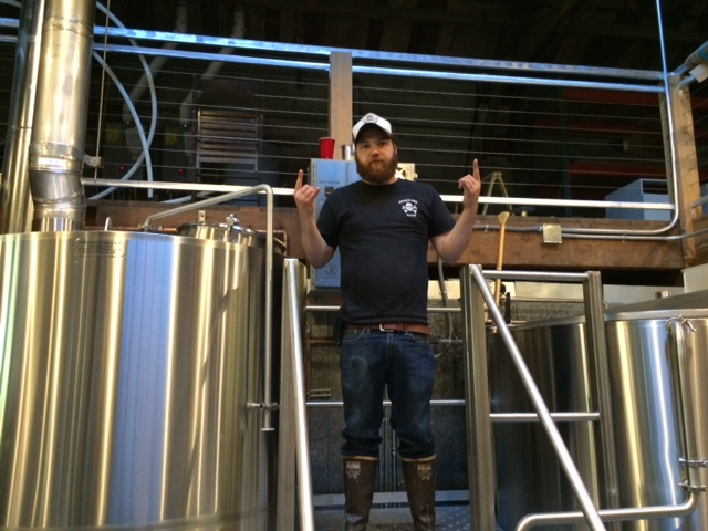 Head Brewer Ian Greene at Ex Novo Brewing