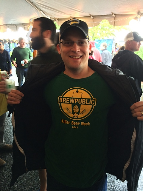 Kerry Finsand Supporting Killer Beer Week at 2013 Hood River Hops Fest