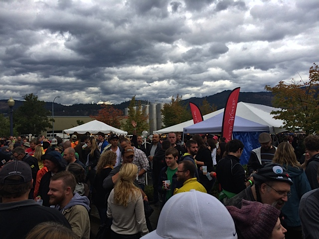 The clouds rolling out at 2013 Hood River Hops Fest